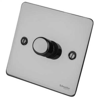 Flat Plate Black Nickel DIMMER 1G  1 Way 400W | LV0701.0499