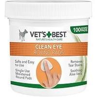 Vet's Best Clean Eye Round Pads 100 pad tub x 1