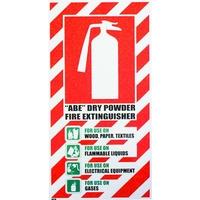 FIRE Extinguisher ABE Dry Powder Blazon Sign