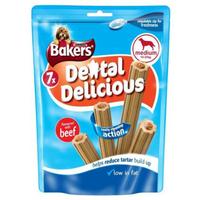Bakers Dental Delicious - Medium Beef 7 Stick x 6