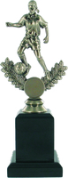 23cm Soccer Trophy on Black Pedestal (F) | TC