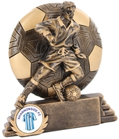 10cm Soccer Ball with Player & 25mm Recess