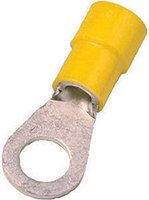Insulated terminals 4 - 6 mm², yell ow, DIN 46237