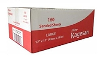 "Kagesan Bulk Red Box Sandsheets - Large 17"" x 11"" x 160"