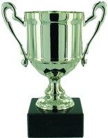 15cm Cast Metal Cup - Silver