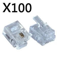 RJ11 Telephone Connectors 100pck