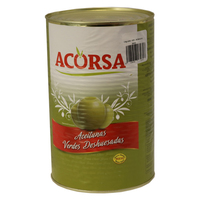 Tin Olives (Green/Whole-Pitted)-Acorsa-(5kg)