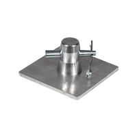 Global Truss F31 PL 100 x 100mm Aluminium Base Plate and Half Conical