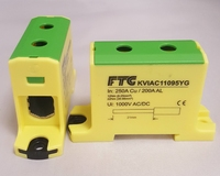 FTG 6-95SQ DIN RAIL Power Block Earth Yellow/Green