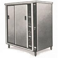 Tall Hotcupboard S/S Sliding Doors 900x800x1575mm 2kw