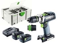 Festool 574698 18v Cordless drills DRC 18/4 Li 5,2-Plus GB