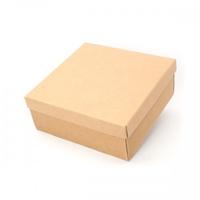 BOX GIFT & LID 25X25X60CM  NATURAL