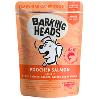 Barking Heads Dog Pouch - Pooched Salmon 300g x 10