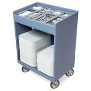 Tray and Cutlery Cart with Pans and Covers Slate Blue