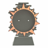140mm Plastic Blaze Disc Holder (Bronze)