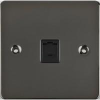 Schneider Single RJ11 tele/data out/l Black insert|LV0701.0252