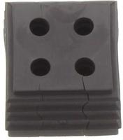 KDS-DE 4X3-4 BK - Seal, black with multiple h