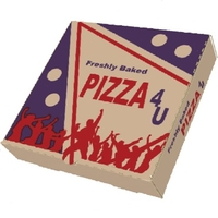 "Box Pizza (Brown)-(100x14)"""