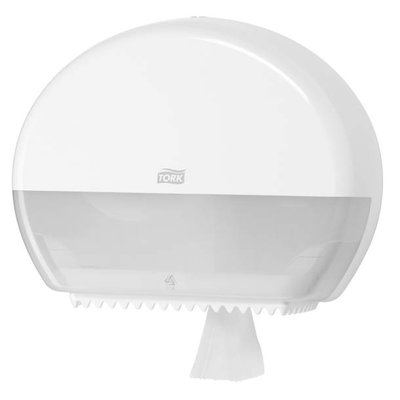 TORK 555000 Mini Jumbo Toilet Roll Dispenser, White