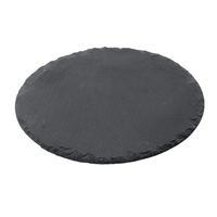 Slate Round Platter Chiselled Edge 28cm Dia Carton of 12