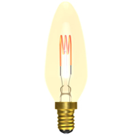 4W LED VINTAGE SOFT COIL VERTICAL FILAMENT CANDLE - SES, AMBER, 2200K