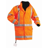 Bison Stamina Hi Vis TTMC-W Thigh Length Jacket