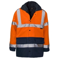Supertouch Hi Vis Two Tone Parka Lined