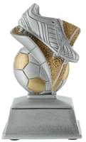 15cm Soccer Boot & Ball (Silver & Gold) | TC1