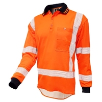 Techni Vision Hi Vis TTMC-W17 Cotton Back Segmented Long Sleeve Polo