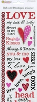 Love Rub on Transfer Sticker 10.5cm X 31cm. (Priced in singles, order in multiples of 3)