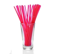 """Collins 8"""" Straight Red Straws Pack of 1,000"""