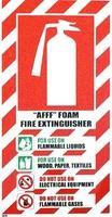 FIRE Extinguisher AFFF Foam Blazon Sign