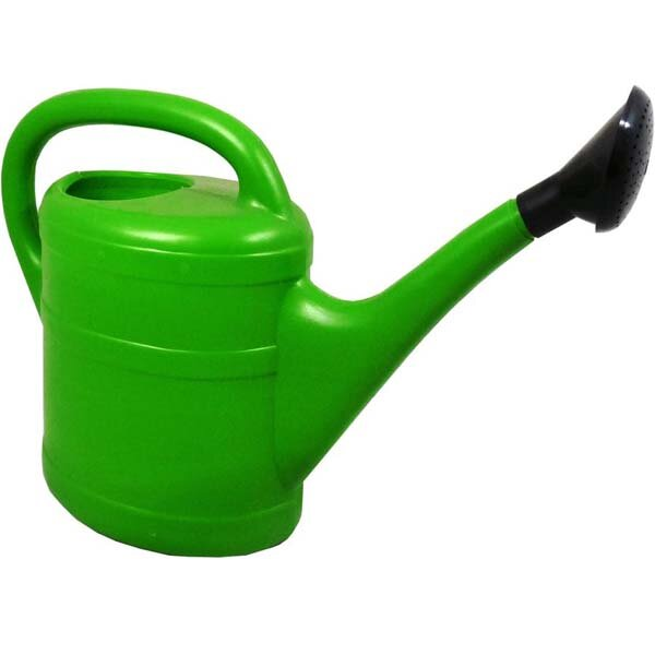 10LTR GREEN PLASTIC WATERING CAN