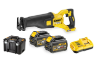 DEWALT DCS388T2 54V XR FLEXVOLT Reciprocating Saw c/w box, charger, 2 x DCB546 6.0ah Li-ion FLEXVOLT BATTERIES (DeWALT Special Discount Price)