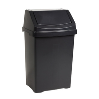 Casa 25L Swing Bin Midnight Black
