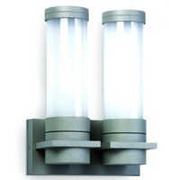 ONE Light Grey Twin Surface Wall Light with Opaque Glass E27