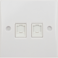 Schneider Ultimate 2Gang RJ45 Outlet IP20