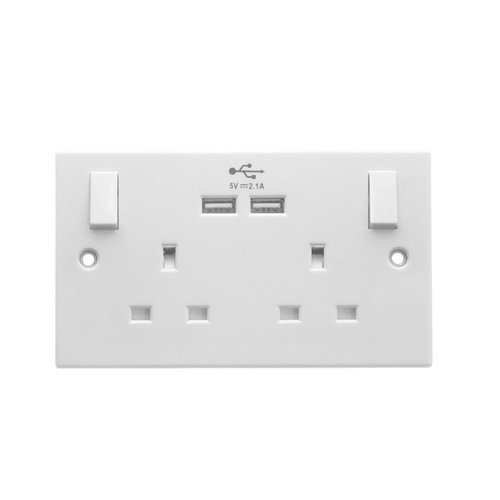 Powermaster USB 2 Gang Socket