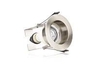 EvoFire 70mm cut-out IP65 Fire Rated Downlight Recessed Satin Nickel with Insulation Guard and GU10 Holder