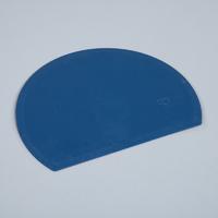 Detectable, round, flexible bowl scraper