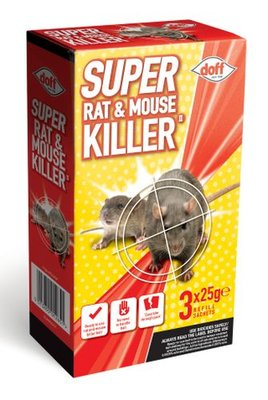 Doff Super Rat & Mouse Killer II 3 x 25g
