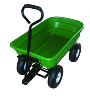 Green PVC Garden Tipper Cart - 65Ltr Tray Capacity