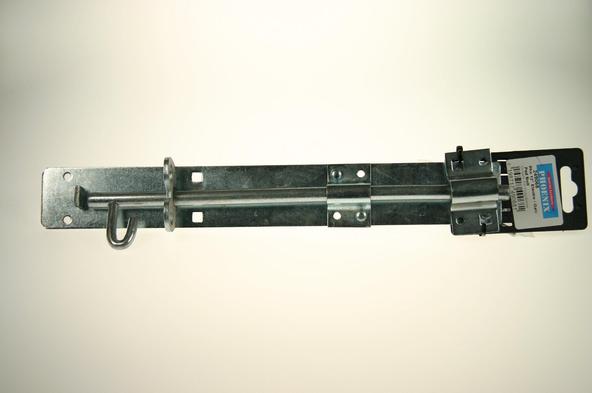 """Padbolt 300mm (12"""") Galvanised"""