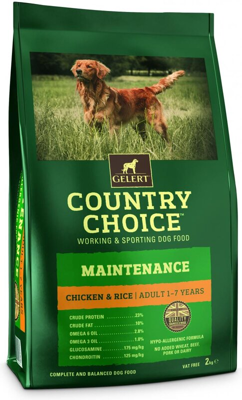 Gelert Country Choice Performance Chicken Adult Dog Food 2kg