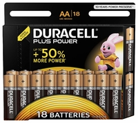Batteries Duracell AA-Type MN1500 18Pkt