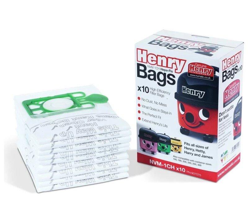 Genuine Numatic Henry Bags 10 Pack Nvm-1Ch