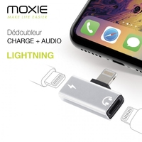 Moxie Lightning Adaptor for Audio & Charging