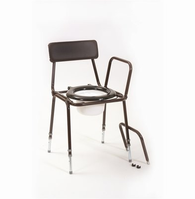 Stackable Commode with Adjustable Height and Detachable Arms