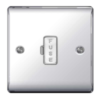NEXUS POLISHED CHROME 13A FUSED CONNECTION UNIT UNSWITCHED