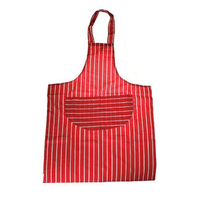 Butchers Stripe Apron Red